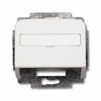 Корпус наклонный для телефонной/компьютерной розетки  альпийский белый Reflex SI
