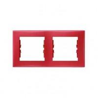 Рамка 2 пост красный Sedna