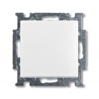 Выключатель кнопочный альпийский белый Basiс 55