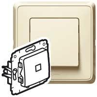 Выключатель 1 клавишный с индикацией/подсветкой слоновая кость Cariva