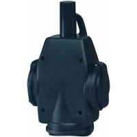 Тройник резиновый черный, резиновая крышка 16А 250В