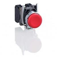 Кнопка красная выступающая 22мм 1НЗ с возвратом