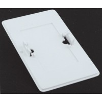Пластина изолирующая белая 2 модуля ХИТ