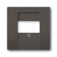 Накладка розетки для аккустических систем (0247,0248) Шато черный Basic 55