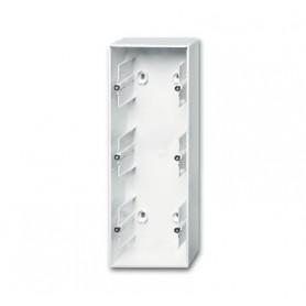 Коробка открытого монтажа 3 поста альпийский белый Basic 55