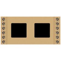 Рамка 2 поста decor золото Swarovski