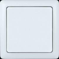 Выключатель 1 клавишный накладной с изолирующей пластиной белый  ХИТ