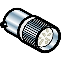 Светодиодная матрица белая с цоколем ВА 9s 24В AC/DC
