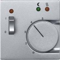 Накладка для терморегулятора с переключающим контактом алюминий System M