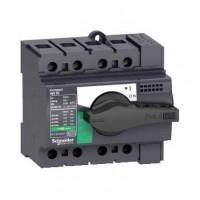 Выключатель-разъединитель 4-пол. 63А с черной ручкой INTERPACT INS63