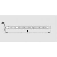 Хомут кабельный полиамид 3,5х280 мм FS280B-C Scotchflex для уст.внутри помещений (-40С+85С) белый (упак.100 шт)
