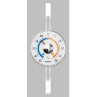 Термометр аналоговый для пластиковых и деревянных окон на липучке (термометр) цвет прозрачный