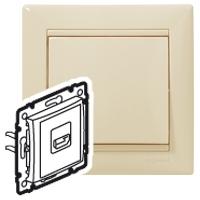 Розетка HDMI для аудио/видеоустройств белый  Valena