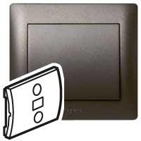 Клавиша для выключателя 1 клавишного темная бронза In One