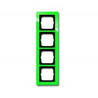 Рамка 4 поста цвет зеленый Axcent