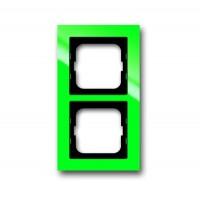 Рамка 2 поста цвет зеленый Axcent