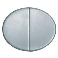 Клавиша для 2-х клавишных выключателей и кнопок серебро Tacto