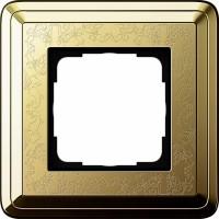 Рамка 1 пост латунь/латунь CassiX Art