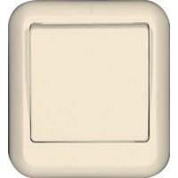Выключатель 1 клавишный, слоновая кость, откр. установки ПРИМА (уп. 130 шт)