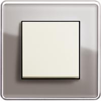 Рамка 1 пост дымчатое стекло ESPRIT C