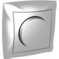 Диммер поворотный 300Вт серебро Дуэт