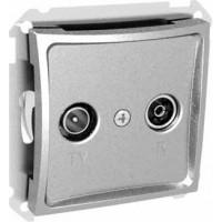 Розетка телевизионная оконечная TV-R 8dB серебро Дуэт