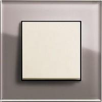 Рамка 1 пост дымчатое стекло ESPRIT