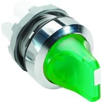 Переключатель (короткая ручка) зеленый 2-х позиционный с подсветкой (только корпус) 90# с фиксацией тип M2SS2-21G