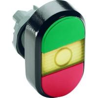 Кнопка двойная (зеленая/красная) желтая линза с текстом (START/STOP) тип MPD4-11Y
