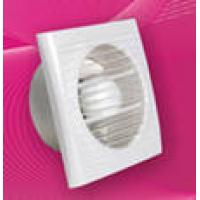 Вентилятор осевой   80 куб.м/час 20 Вт 220 В для настен. и потолоч.монтажа (диам.шахты 100мм) с обрат.клапаном таймер серия  ERA