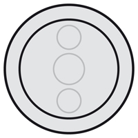 Накладка для светорегулятора сенсорного графит Celiane