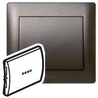 Клавиша для выключателя/переключателя 1 клавишного с индикацией темная бронза Galea Life