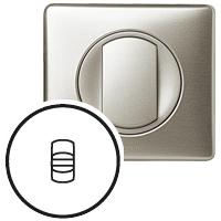 Накладка для выключателя/переключателя с рычажком титан Celiane