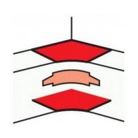 Отвод T к профилю 80 мм DLP