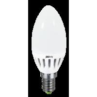 Лампа светодиодная 3,5 Вт 230В Е14 свеча, термопластик, тёплый белый