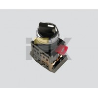 Переключатель на 2 фикс. положения I-0 черный 230В d22мм 1з+1р IP40 тип AC-22