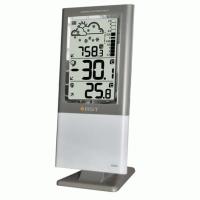 Станция цифровая барометрическая (термометр, барометр, индик.сост.батареи, сигнал.гололед) корп.темно-зеленый-серебристый
