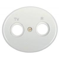 Накладка для телевизионной розетки TV+FM белый Tacto