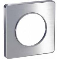 Рамка 1 пост Полированный алюминий Odace