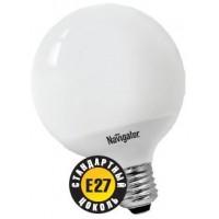 Лампа энергосберегающая 13 Вт Е27 2700К шар 95мм, тёплый