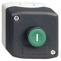 Кнопочный пост управления с зелёной кнопкой с маркировкой