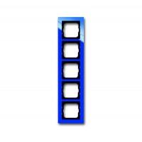 Рамка 5 постов цвет синий Axcent