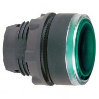 Головка для кнопки с подсветкой зелёной 22 мм с возвратом