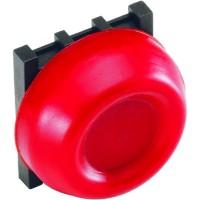 Кнопка красная с резиновым колпачком IP66 с монтажной колодкой тип KP6-40R