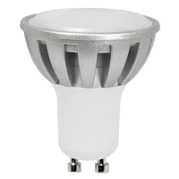 Лампа светодиодная 7.5 Вт 230В GU10 d=51mm, Chip-On-Board, алюминий, тёплый белый