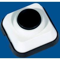 Выключатель кнопочный  белый Прима