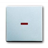 Клавиша для 1-х клавишных выключателей и кнопок с красной линзой серебристо-алюминевый solo/future