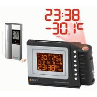 Метеостанция погодная проекционная (метеочасы)(радиодатчик, часы, календарь, термометр) настол.уст.цвет черный