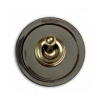 Выключатель/переключатель 1 клавишный коричневый/бронза venezia (Fontini)