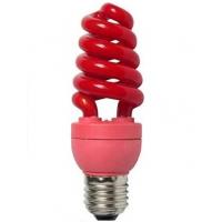 Лампа энергосберегающая 15 Вт Е27 спираль, красная